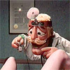 Puppet retro doctor giving her a deep vaginal inspection