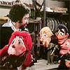 Sexy retro puppet giving a blowjob instead of the money