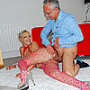 A lucky old guy enjoys shagging a sexy porn star hardcore