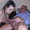 Hairy sweetheart fucking a much older horny dude hardcore