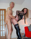 Gypsy loves a senior cock inside her loose worn out pussy from Jim Slip