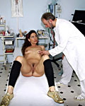 Brunette gets treated vaginally by the weird senior doctor from Old Farts Young Tarts
