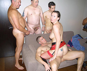 Four guys get to pound Lara
