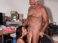 Lucky old man. A horny old man gets to fuck a young attractive exciting girl