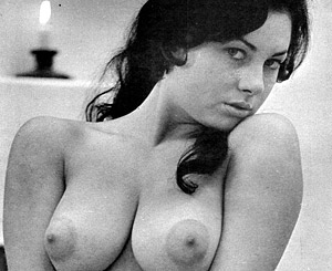 June palmer. Curvy vintage sixties model June Palmer posing nude