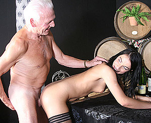 Clarissa. Lucky senior man fuck a real horny beauty heavy indoors