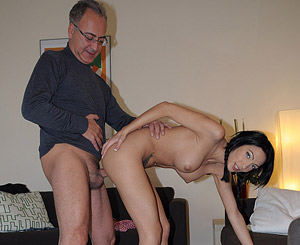 Abelia. A excited british car bitch dick sucking a very old guys massive dick