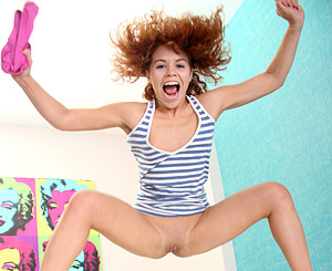 Denise  melissa. Two teenage bed jumping babes love fooling around together