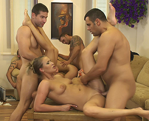Orgy games. Excited beautiful young people are having a great hot orgy